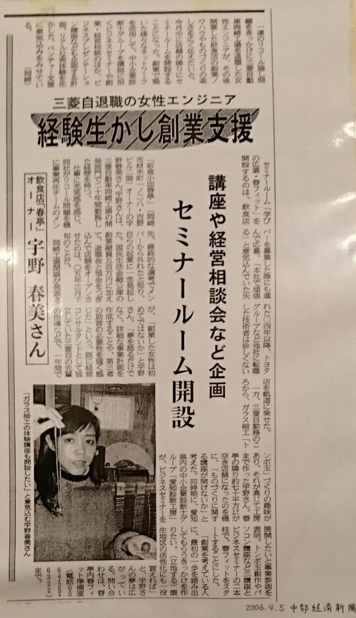 2019.3.7 (105) 春亭 - 中部経済新聞の記事 720-1250