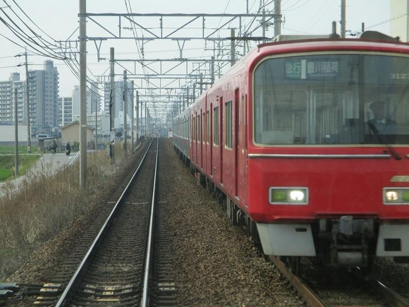 2019.3.15 (29) 犬山いきふつう - 宇頭しんあんじょう間(豊川稲荷いき急行