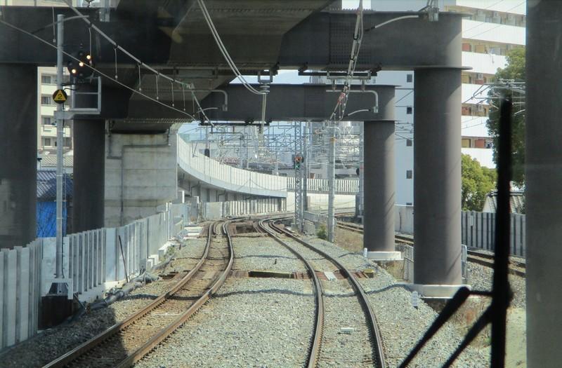 2019.3.18 (155) 新大阪いきふつう - 放出鴫野間(うしろむき) 1600-1050
