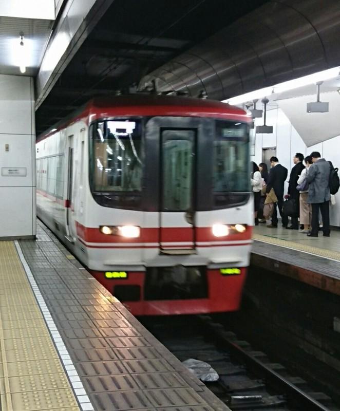 2019.3.27 (1002) 名古屋 - 豊橋いき快速特急 910-1100