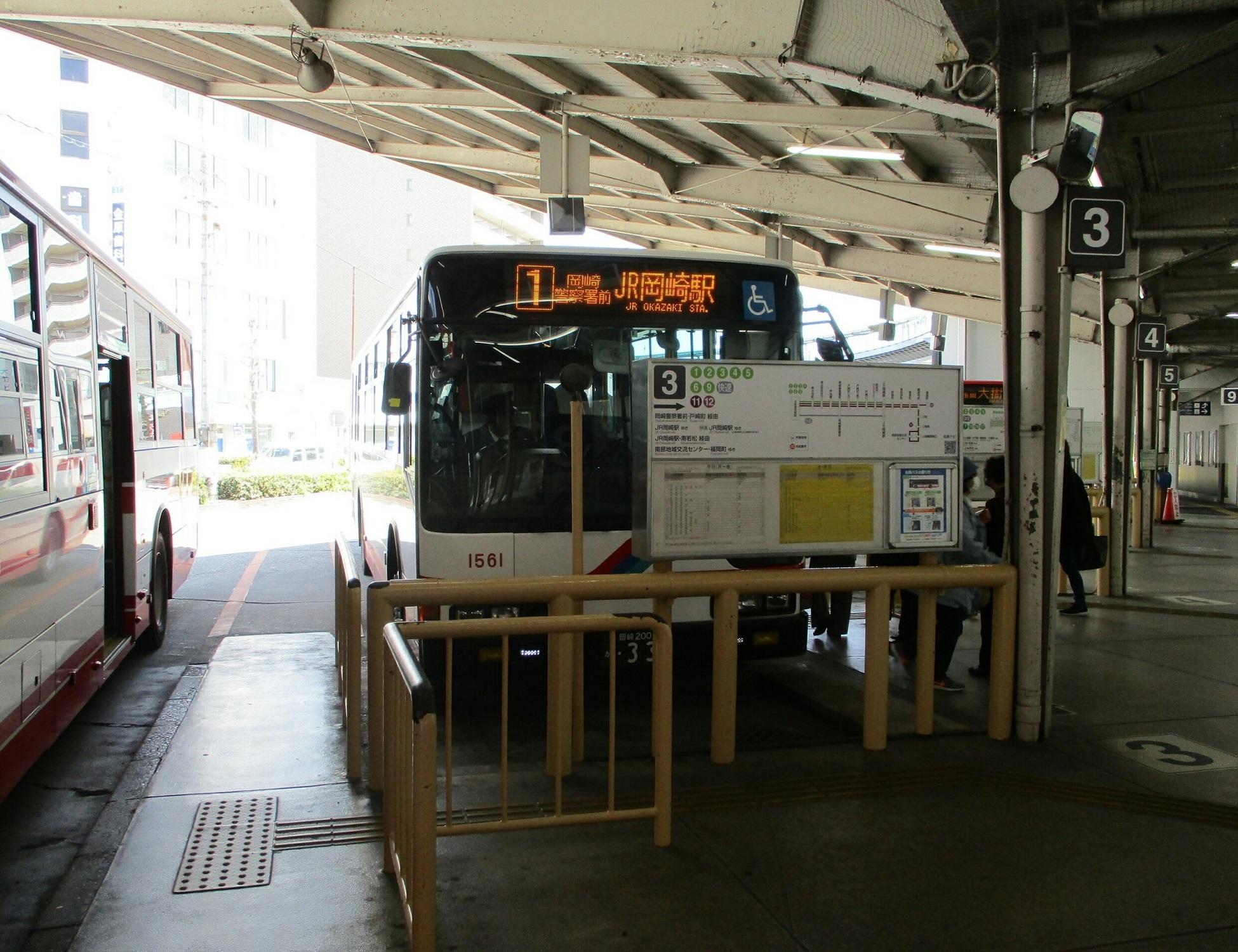 2019.4.9 (6) 東岡崎 - JR岡崎駅いきバス 1950-1500