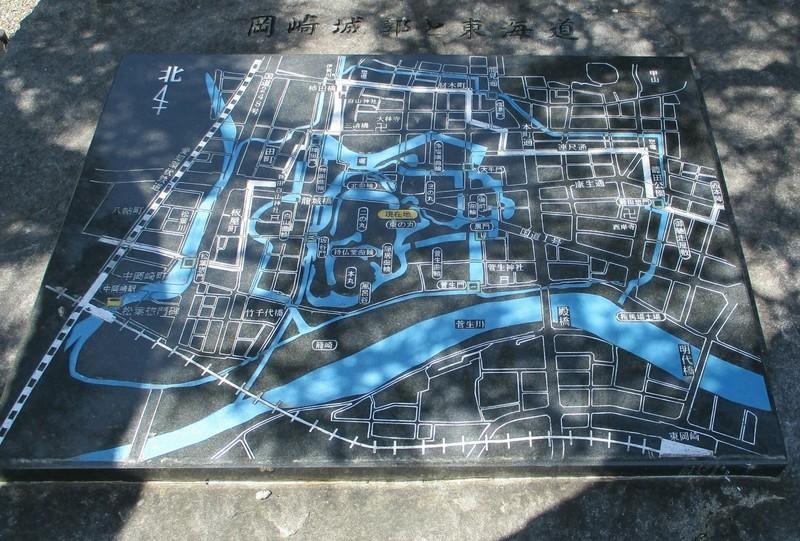 2019.4.9 (26) 岡崎公園 - 岡崎城郭と東海道の地図 2100-1420