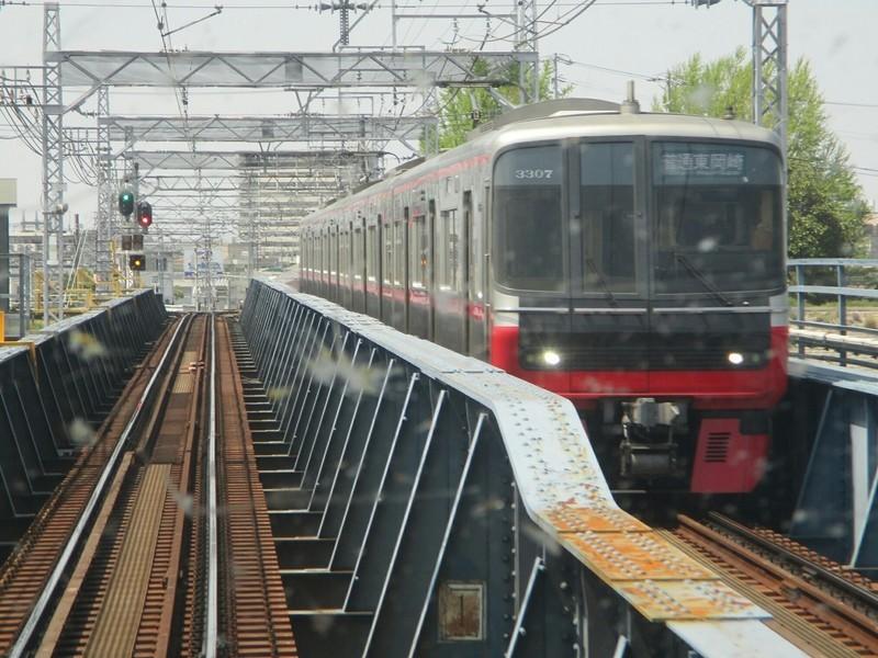2019.4.22 (5) 一宮いき急行 - 庄内川をわたる(東岡崎いきふつう) 1400-1050