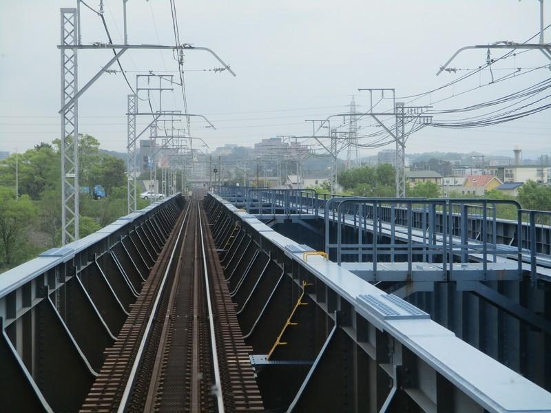 2019.4.25 (9) 東岡崎いきふつう - 矢作川をわたる 1600-1200