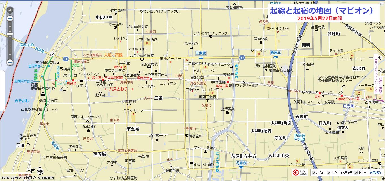 2019-05-27 起線と起宿の地図(マピオン) 1360-640