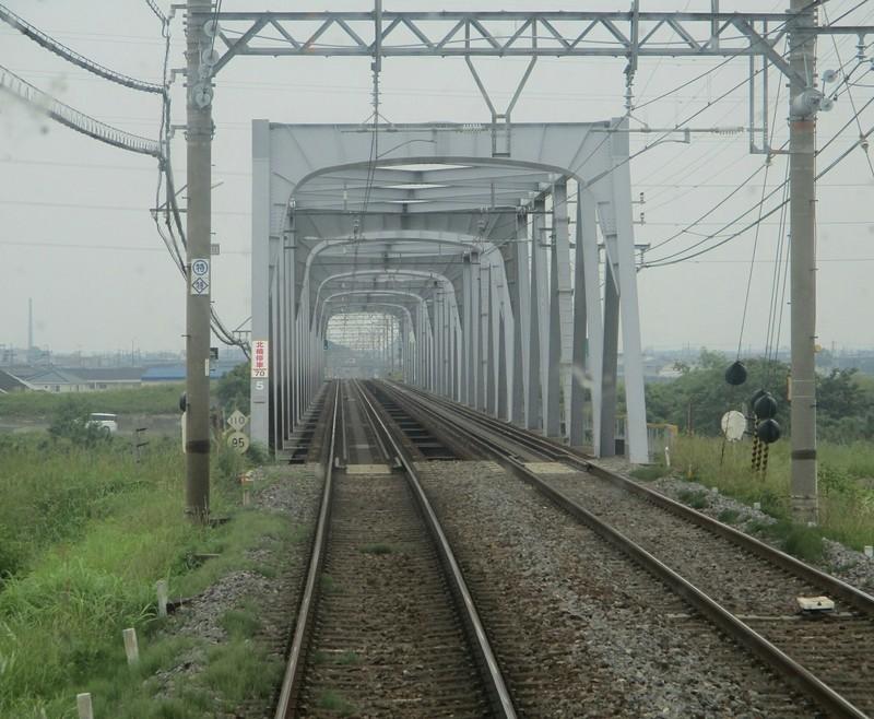 2019.6.2 (69) 松阪いき急行 - 鈴鹿川鉄橋 1460-1200