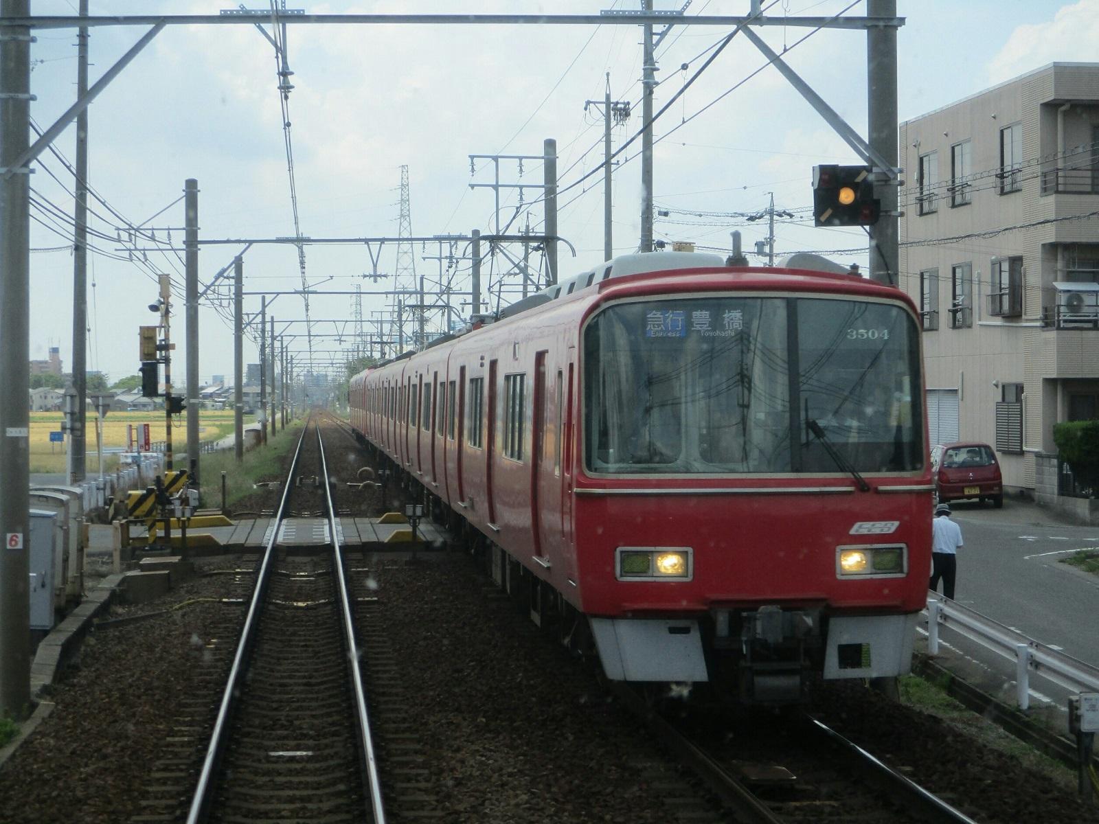 2019.6.5 (8) 岐阜いき特急 - しんあんじょうすぎ(豊橋いき急行) 1600-1200
