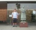 2019.6.18 (31) 三岸節子記念美術館 - 三岸節子の銅像 1780-1480