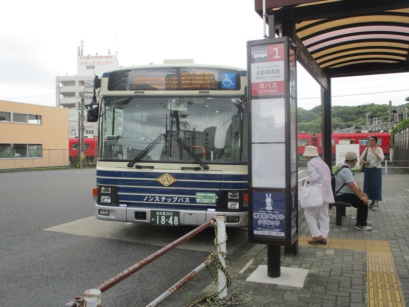 2019.7.9 (2) 名鉄神宮前バス停 - 名古屋駅いきバス 1600-1200