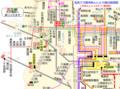 名鉄バス岡崎あんじょう線の路線図(2019.6.6 乗車)