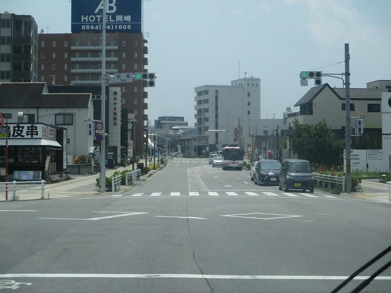 2019.7.24 (8) JR岡崎駅いきバス - 羽根交差点 1600-1200