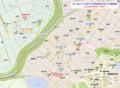 井ヶ谷口バス停から豊明福祉会までの経路図 1020-750