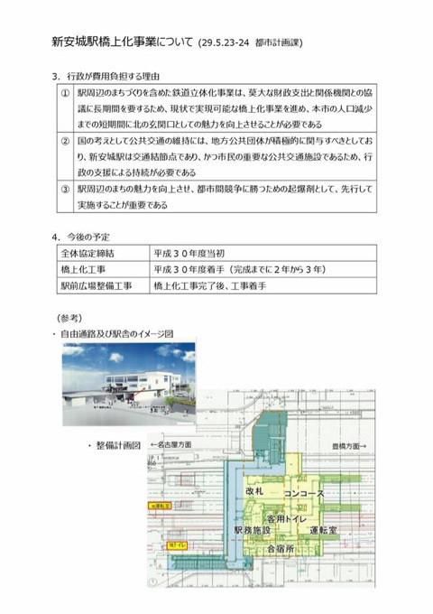 (3) 2017.5.23-24 新安城駅橋上駅化事業について(都市計画課)