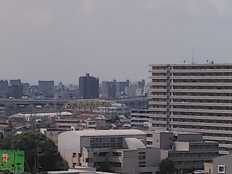 2019.9.11 (20) 名駅の高層ビルから西南方向にトラス橋 1000-750
