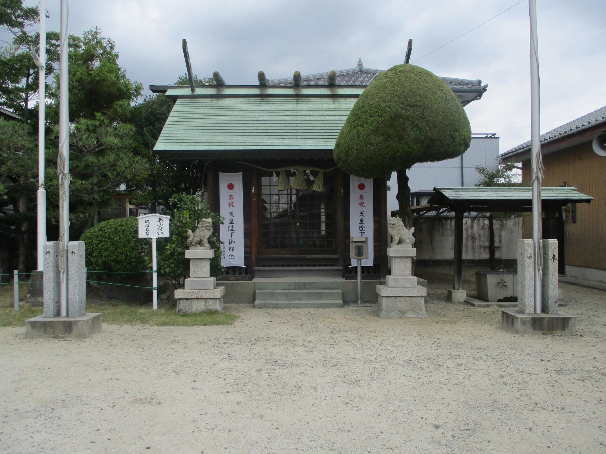 2019.10.7 (26) 矢作五区 - 竊樹神社本殿 2000-1500