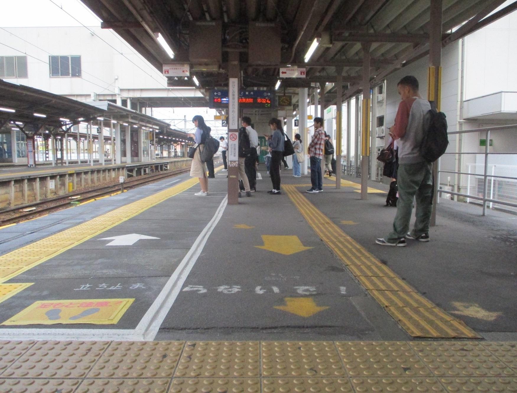 2019.10.7 (35) しんあんじょう - 西尾線ホーム(にしがわ) 1750-1330