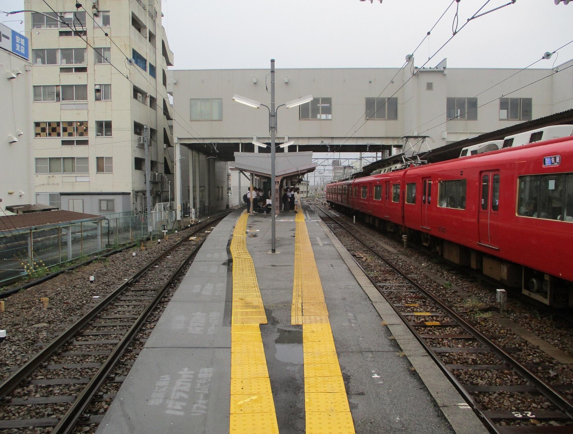 2019.10.7 (36) しんあんじょう - 西尾線ホーム(ひがしがわ) 1980-1500