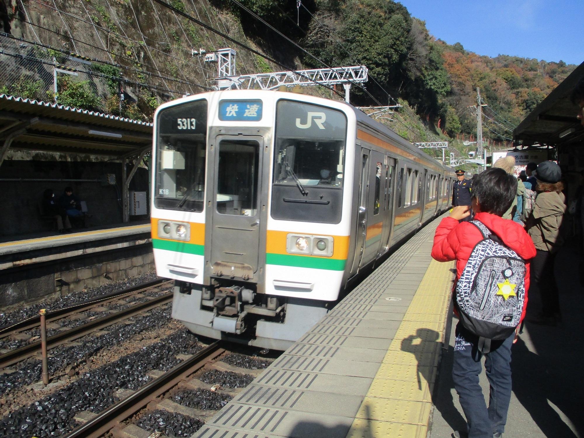 2019.12.1 (53) 定光寺 - 名古屋いき快速(臨時停車) 2000-1500