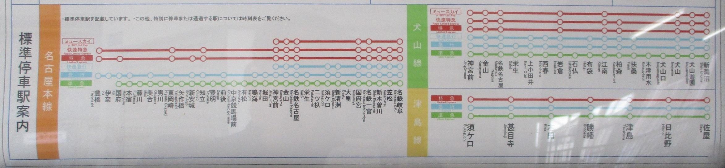 2019.12.5 (5) 矢作橋 - 標準停車駅案内(岐阜方面) 2345-545