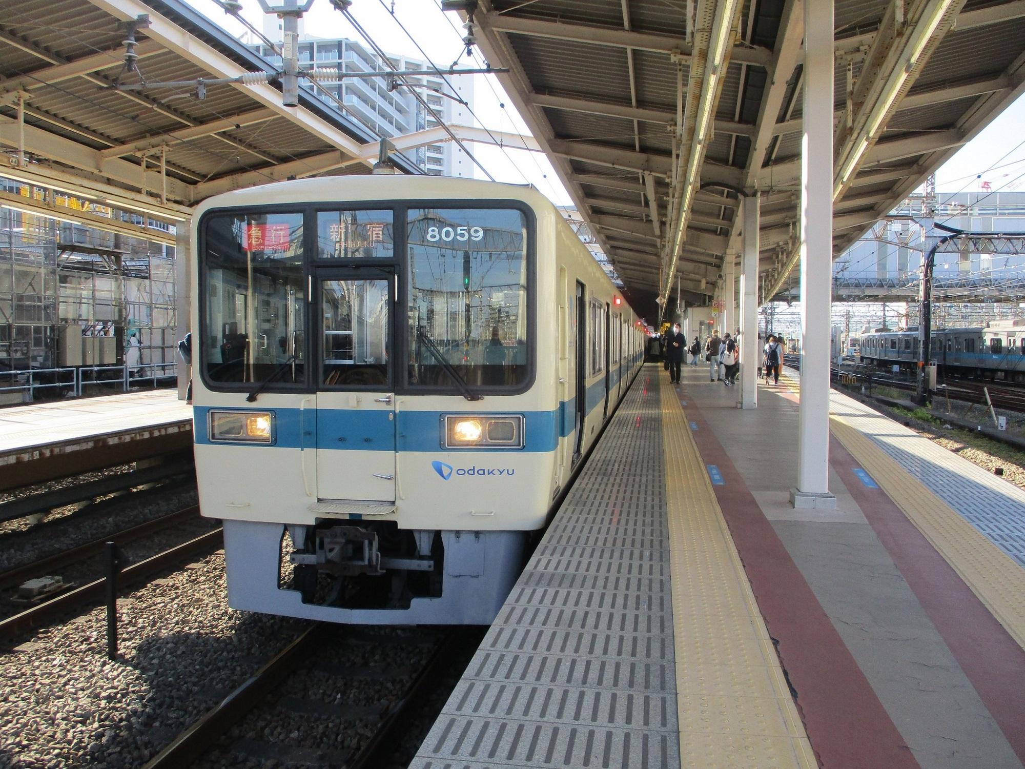 2019.12.16 (64) 海老名 - 新宿いき急行 2000-1500
