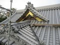 2019.12.21 古井神社 (1) 拝殿やね(みなみ) 2000-1500