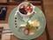 2020.1.25 (1) カフェハグス - プリンとチーズケーキのセット 1200-900