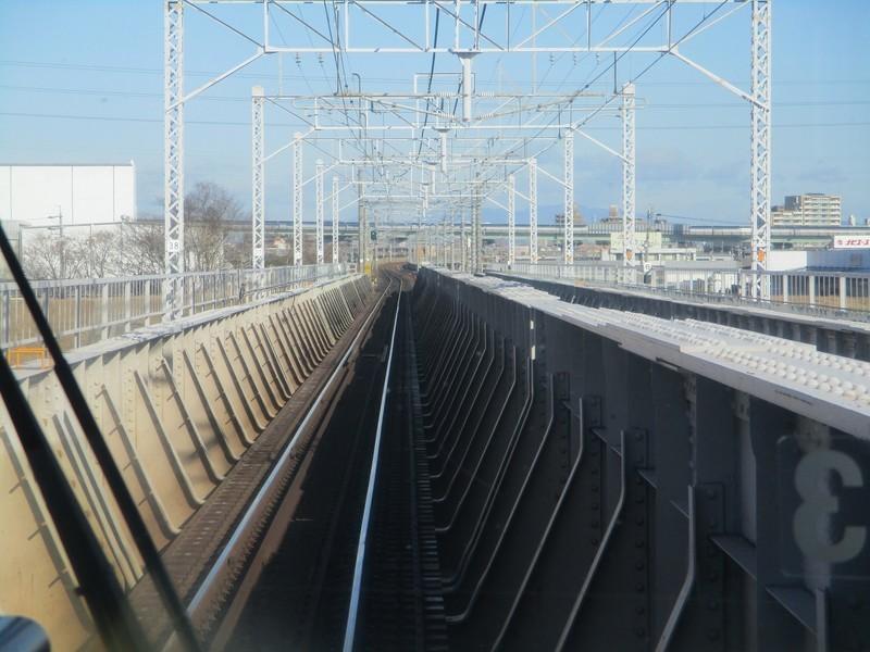 2020.2.4 (15) 高蔵寺いきふつう - 庄内川鉄橋 1800-1350