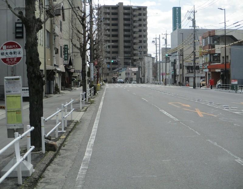 2020.2.23 (11) 西尾いきバス - 明大寺町バス停 1740-1350