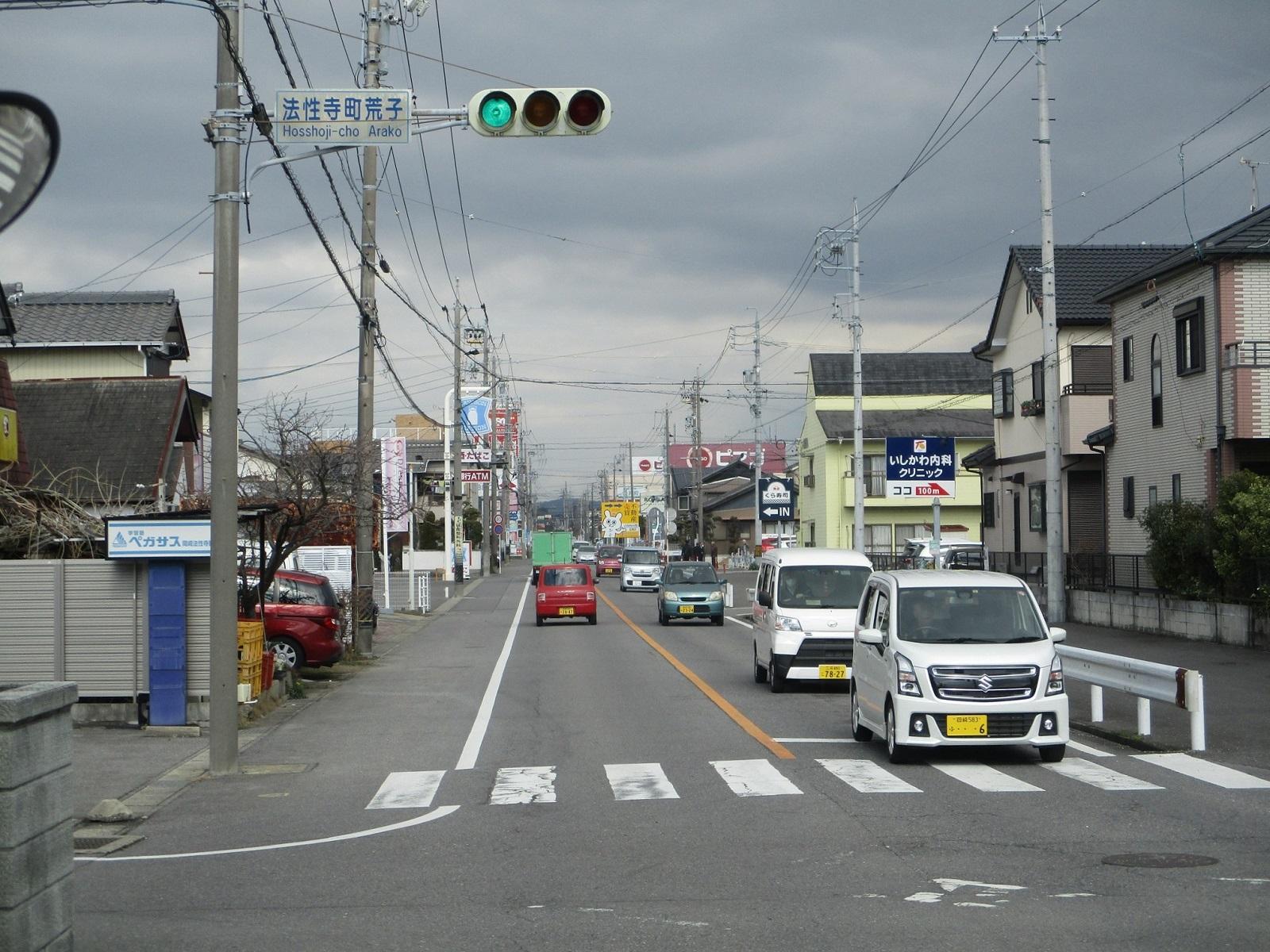 2020.2.26 (46) JR岡崎駅西口いきバス - 法性寺町荒子交差点を右折 1600-1200
