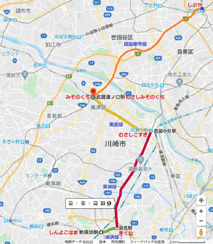 2020.2.20 (3) 新横浜から溝の口をへて渋谷まで 700-800