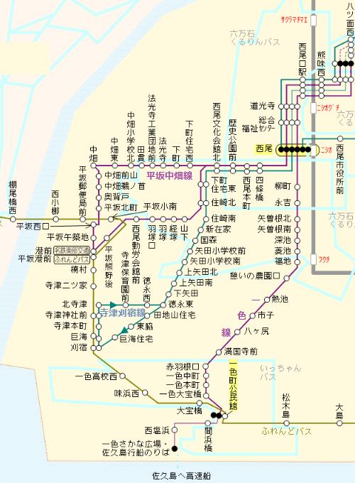 平坂中畑線と寺津刈宿線(2020年3月現在) 500-680