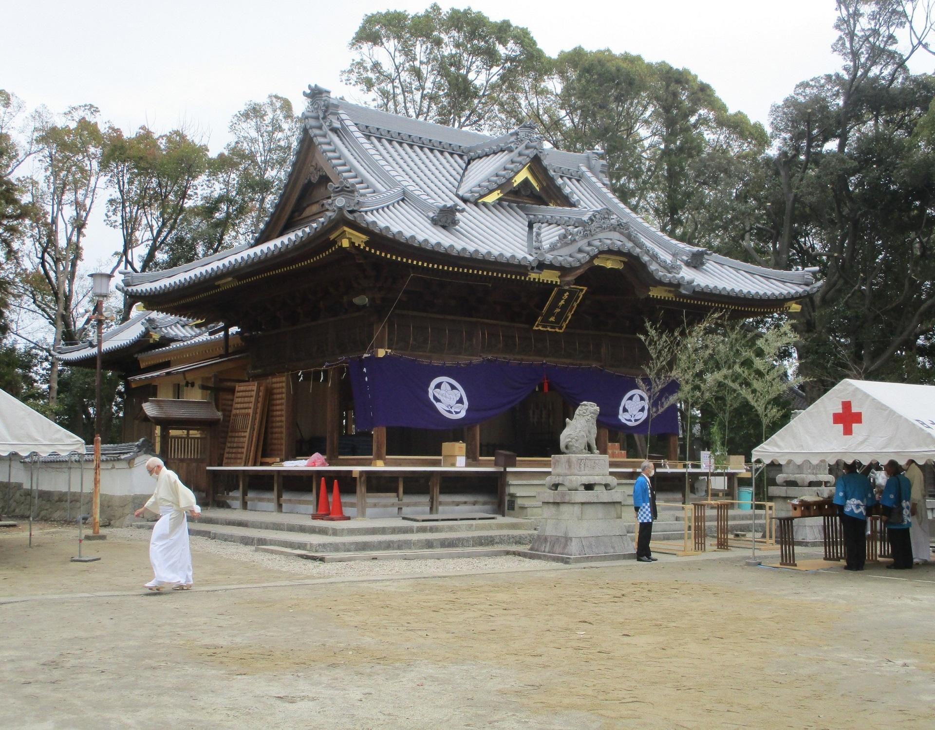 2020.3.28 (4) 古井神社 - 社殿外観 1920-1500
