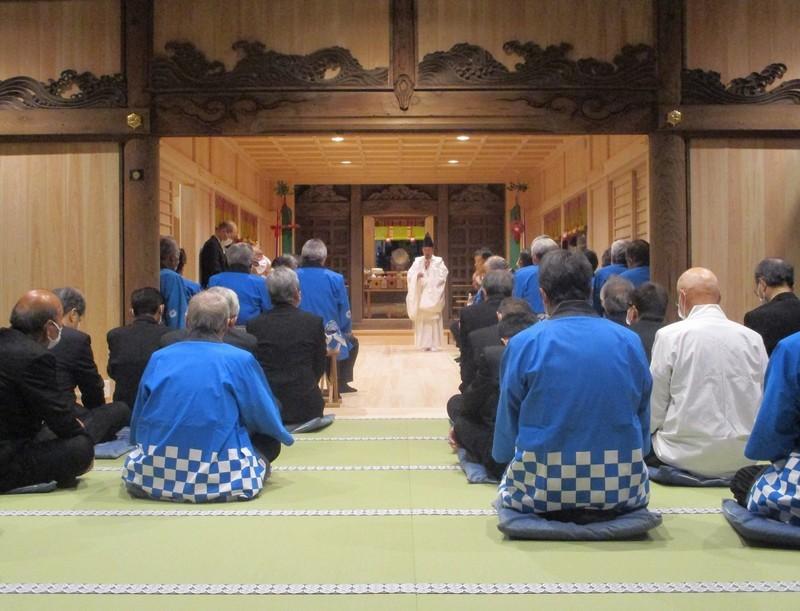 2020.3.28 (29) 古井神社本遷座祭 - 本殿で儀式 1570-1200