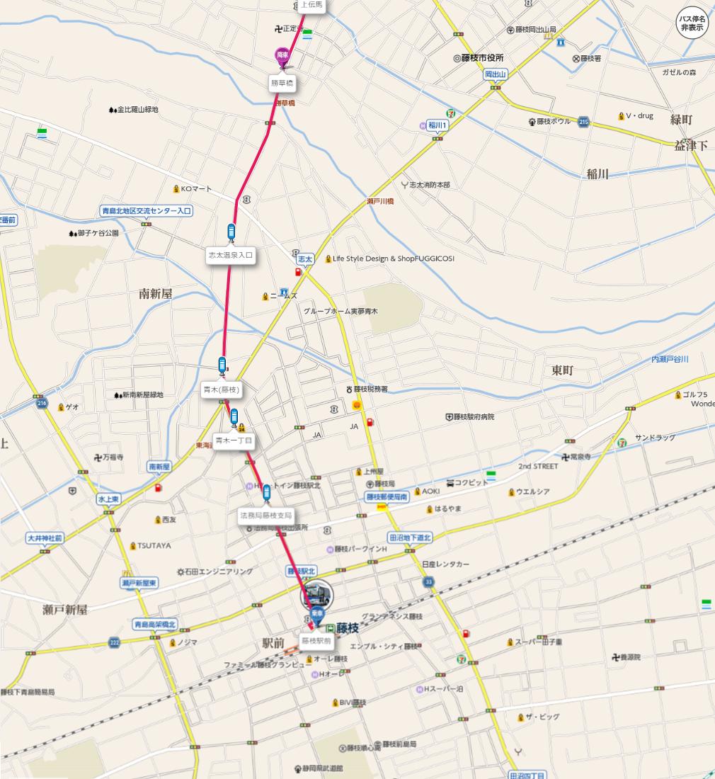 2020.1.21 しずてつジャストライン中部国道線 - 藤枝駅前から勝草橋 1010-1100