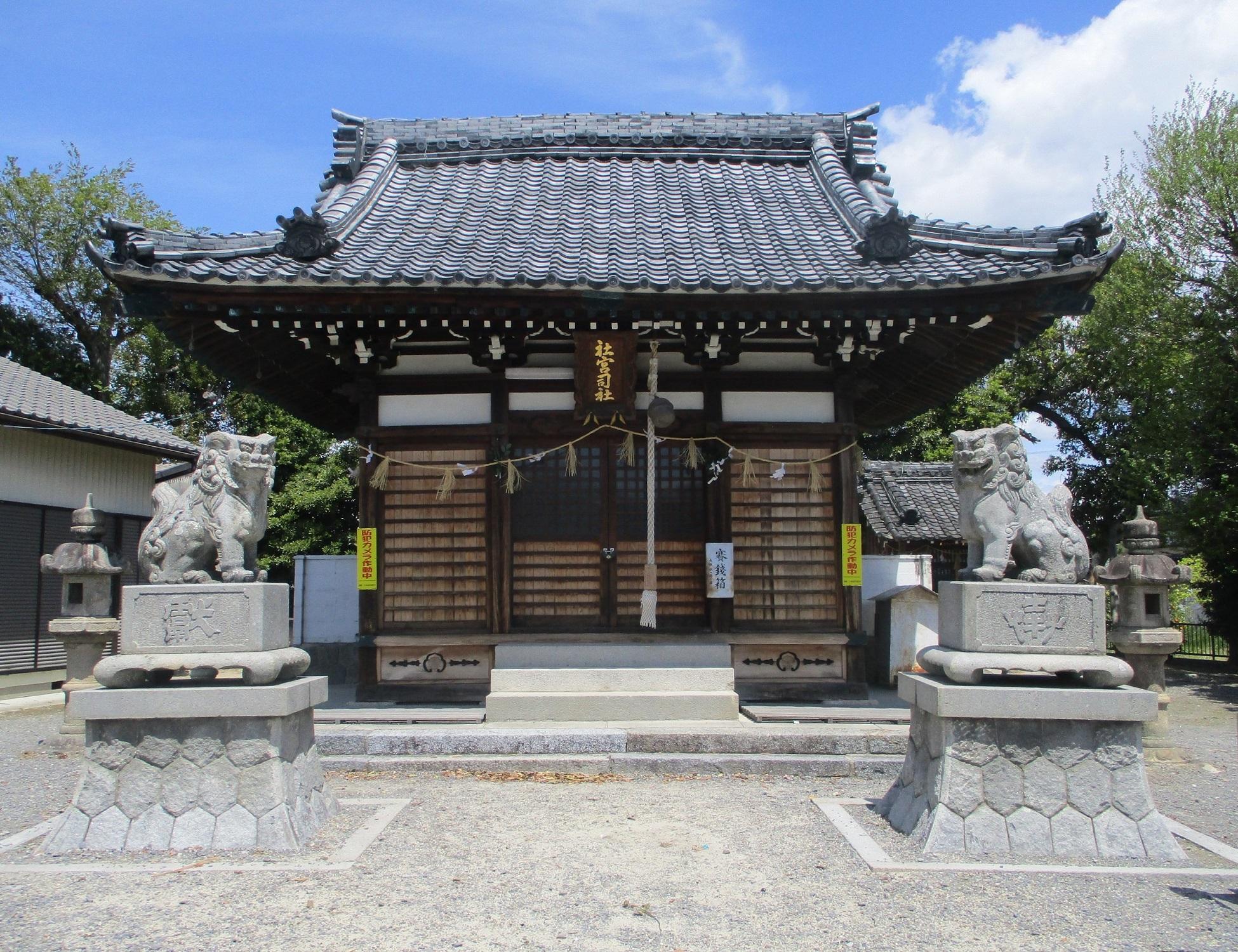 2020.4.22 (1) 社宮司社 - 拝殿 1950-1500