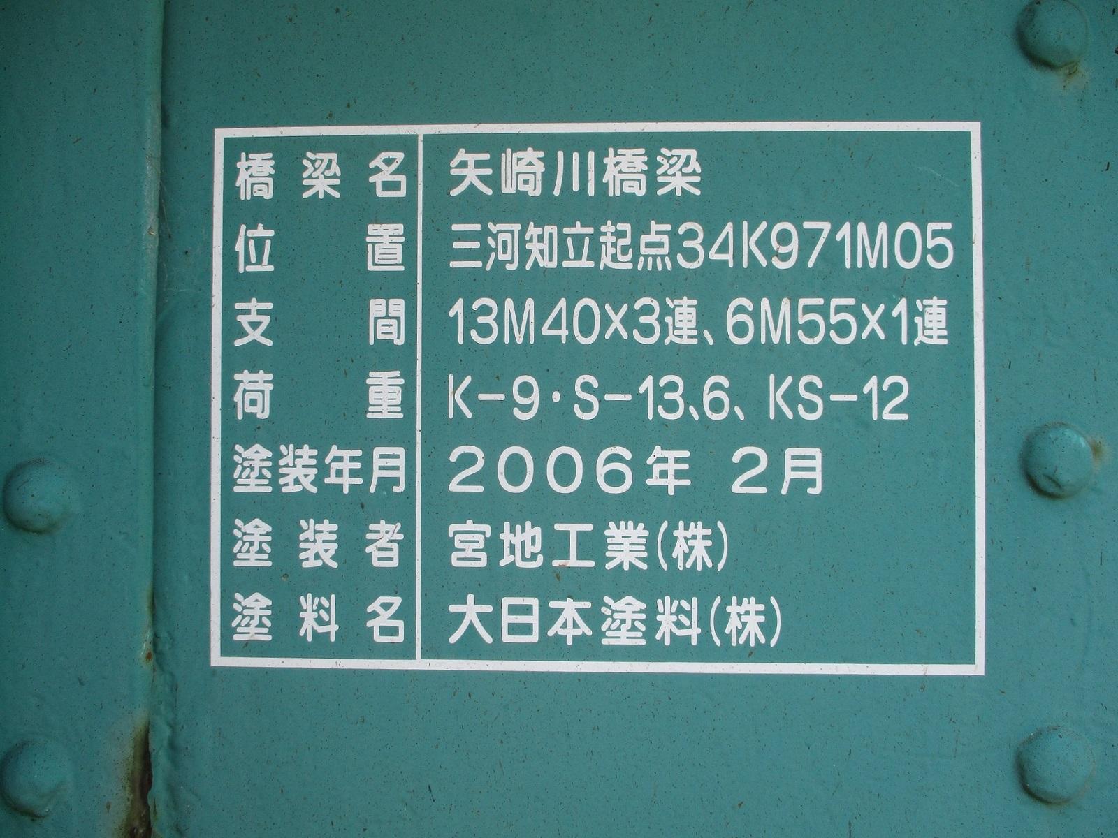 2020.6.16 (11) 矢崎川鉄橋 - 銘板 1600-1200