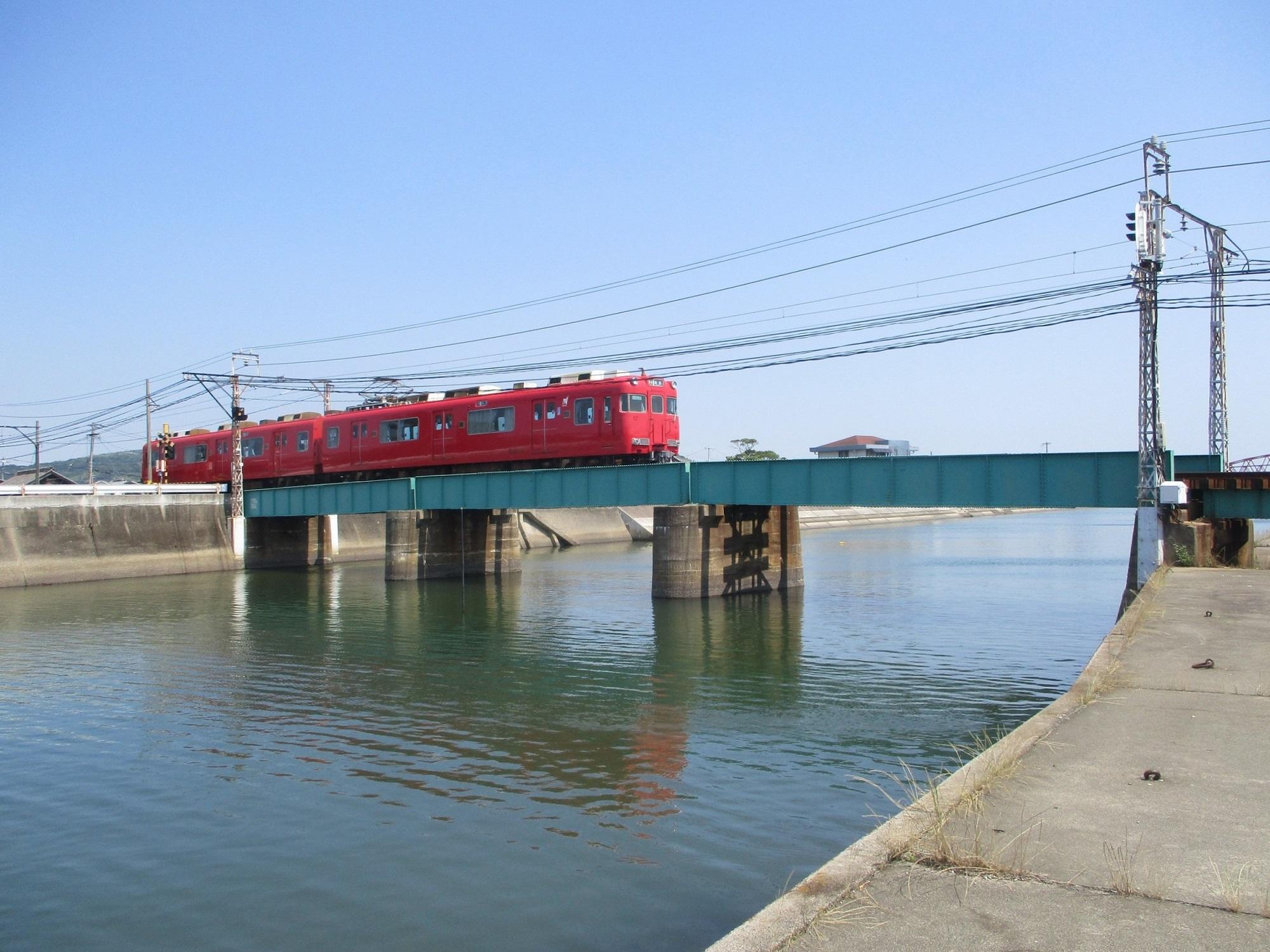 2020.6.16 (13) 矢崎川鉄橋 - 蒲郡いきふつう 2000-1500