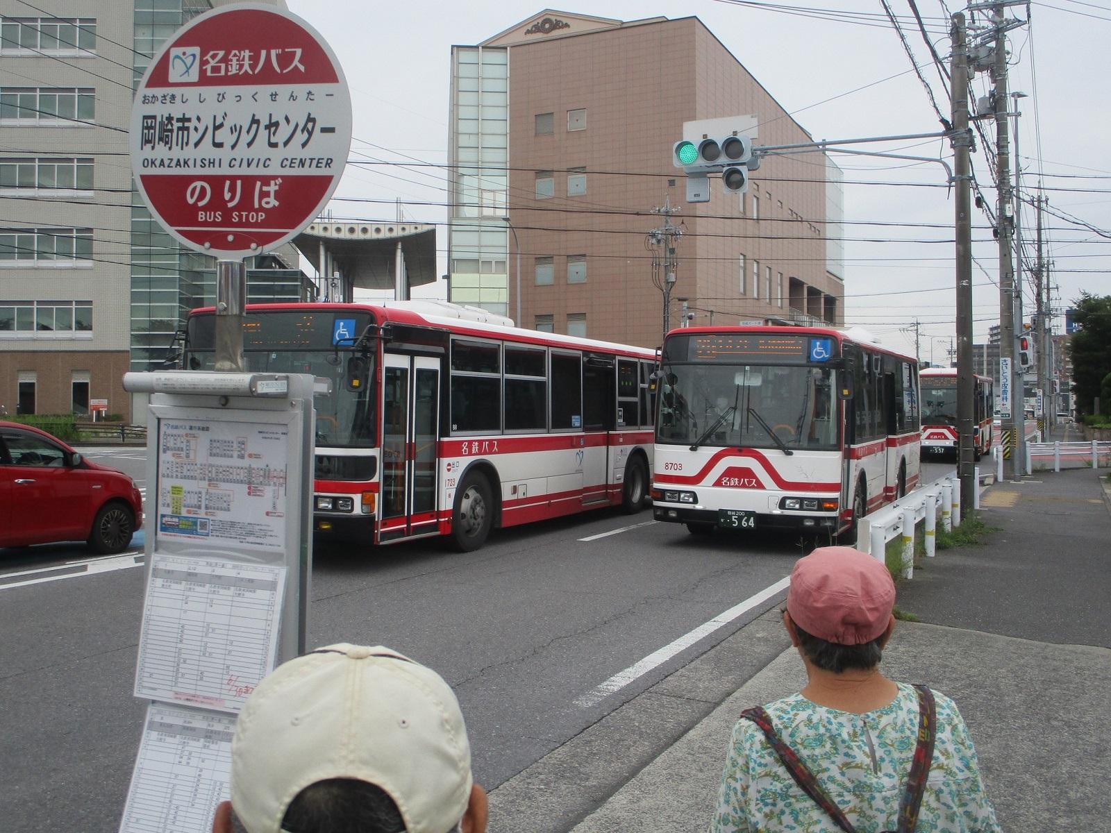 2020.6.22 (24) 岡崎市シビックセンターバス停 - イオンモール岡崎いきバス 1600-1200