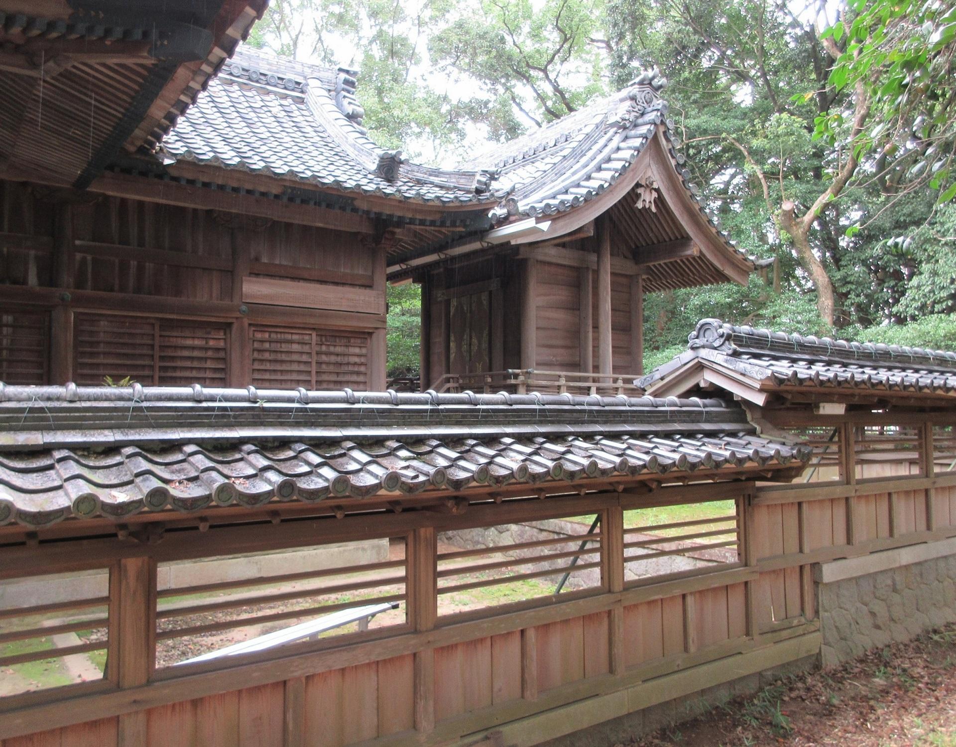 2020.7.23 (11) 小針神明社 - わたり殿と本殿 1920-1500