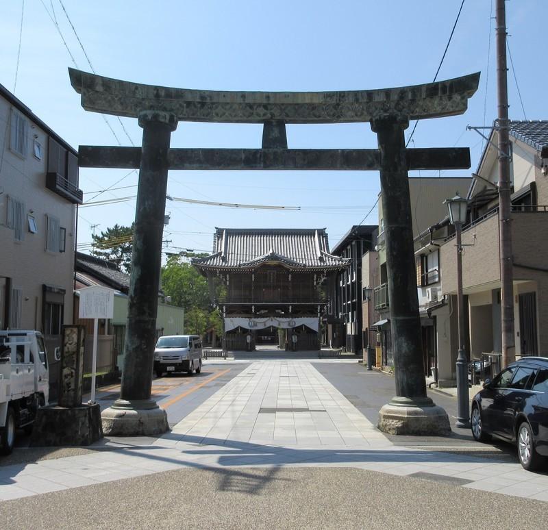 2020.8.25 (42) 桑名宗社 - とりい(銅製) 1240-1200