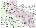 1876年8月21日の府県統合による丹波国 483-379