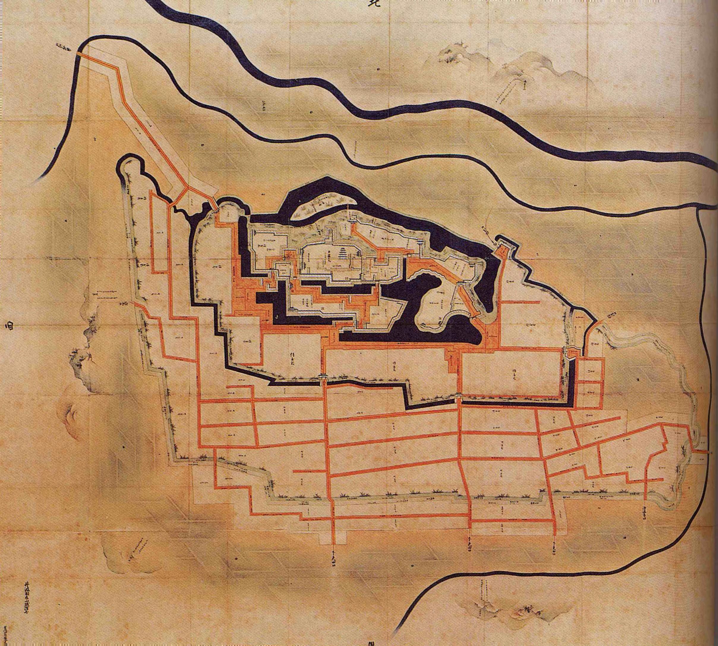 亀山城なわばり図(ヰキペディア) 2417-2173