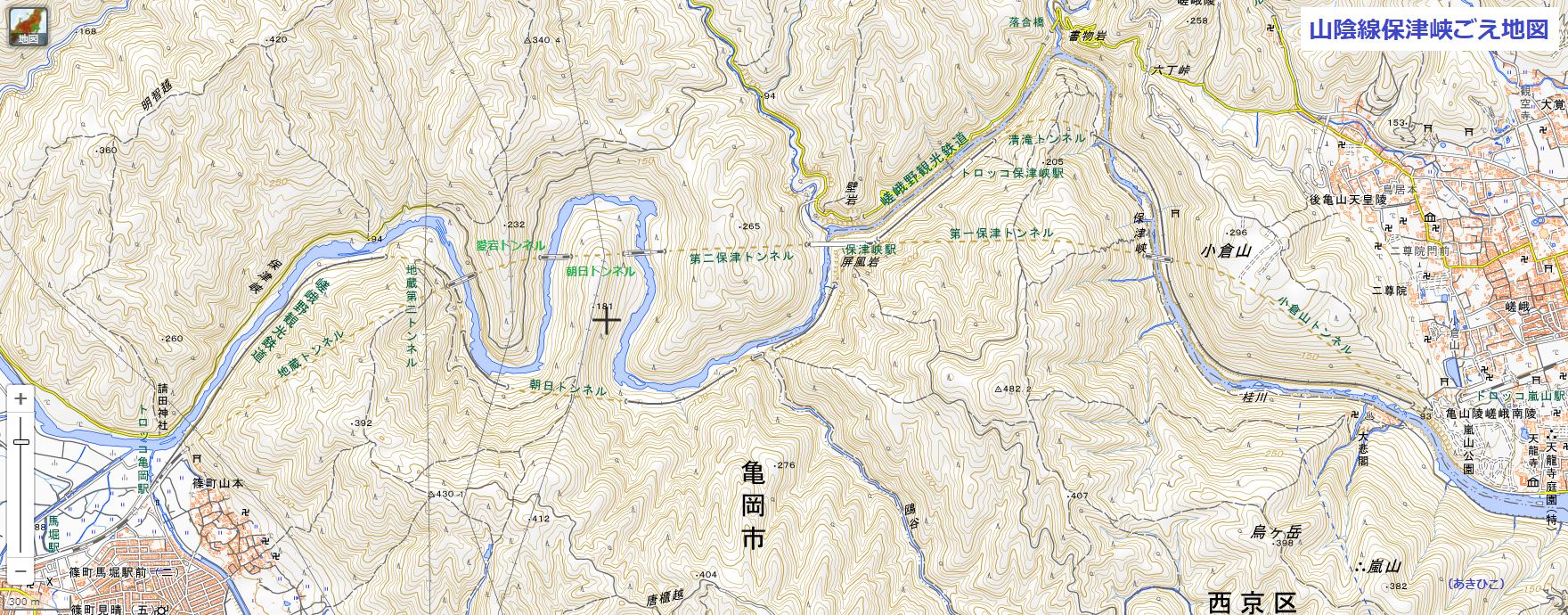 2020.9.15 山陰線保津峡ごえ地図(あきひこ) 1760-690