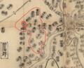 明治以前の大岡白山神社の氏子の範囲 780-630