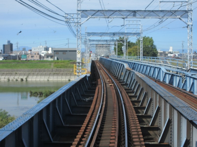 2020.10.16 (18) 一宮いき急行 - 庄内川鉄橋 1400-1050