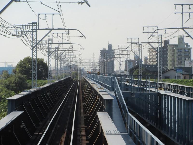 2020.10.21 (48) 岐阜いき特急 - 矢作川をわたる 1600-1200
