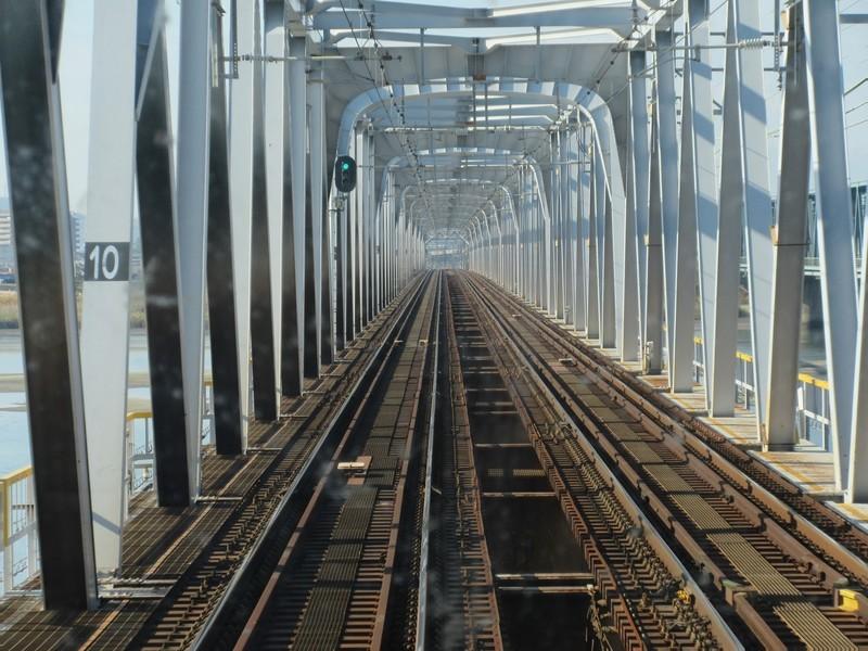 2020.11.13 (37) 松阪いき急行 - 木曽川鉄橋 1600-1200