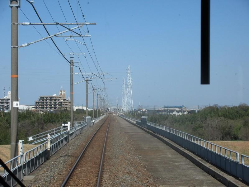 2021.3.23 (26) 高蔵寺いきふつう - 矢作川をわたる 1600-1200