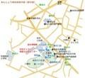 あんじょう城史跡案内図(部分図) 1430-1310