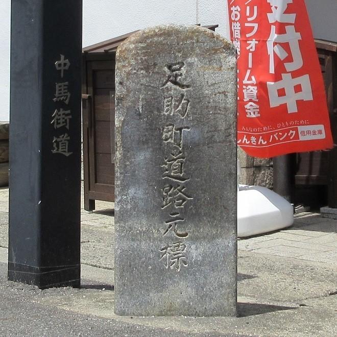2021.5.4 (1-1) 足助町道路元標(豊田信用金庫足助支店) 660-660